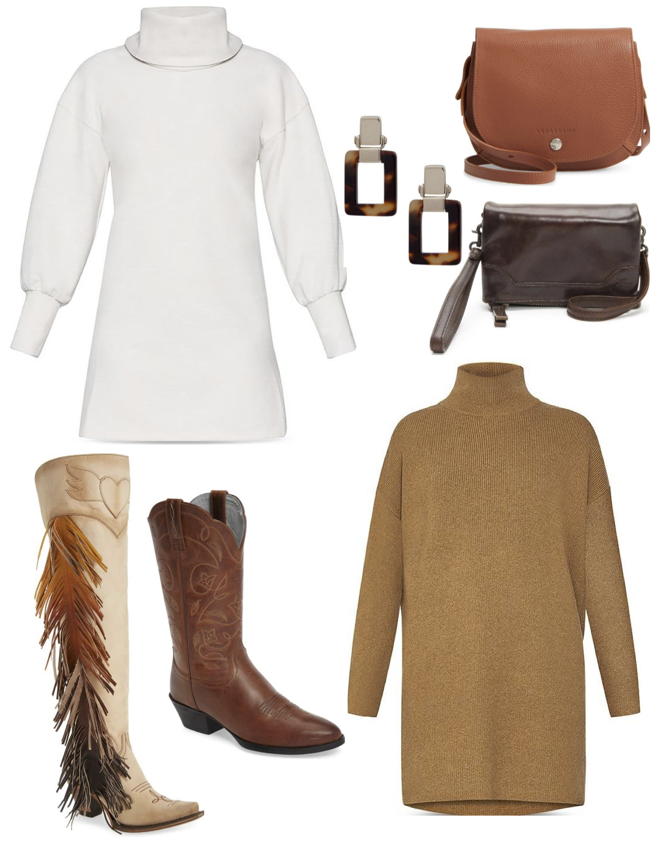 Feather boots, White